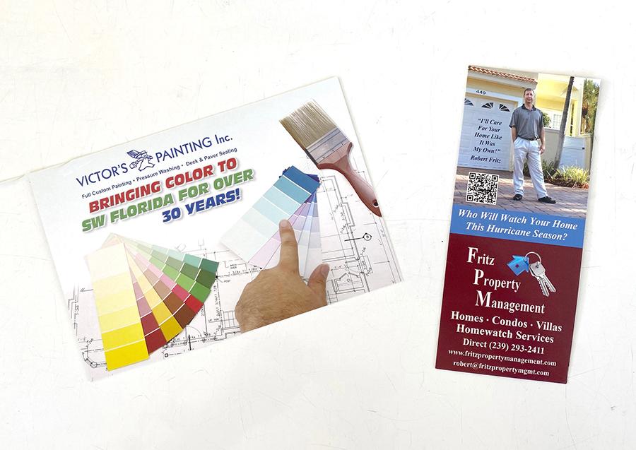 postcard and brochure design and printing, Naples FL