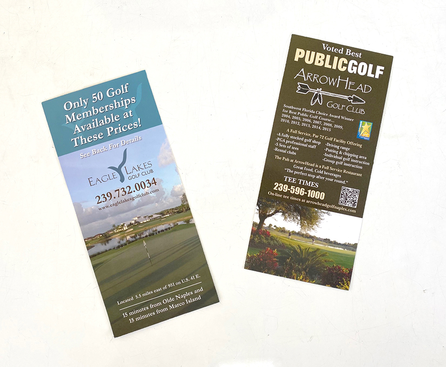 Rack card design and print in Naples