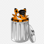 cartoon rubb trashcan png clip art