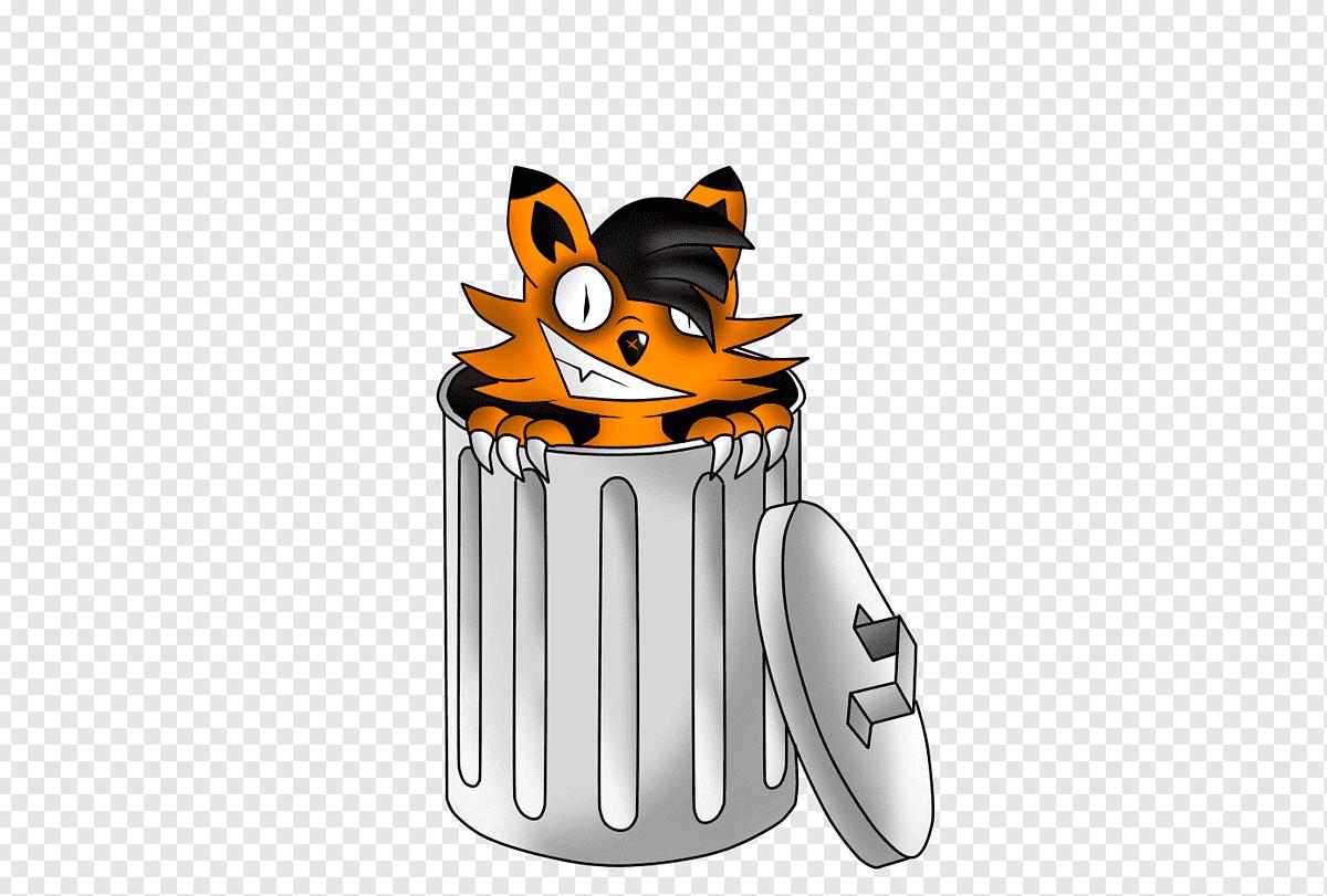cartoon rubb trashcan png clip art